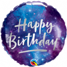 "Birthday Galaxy Foil Balloon (18"") 1pc"